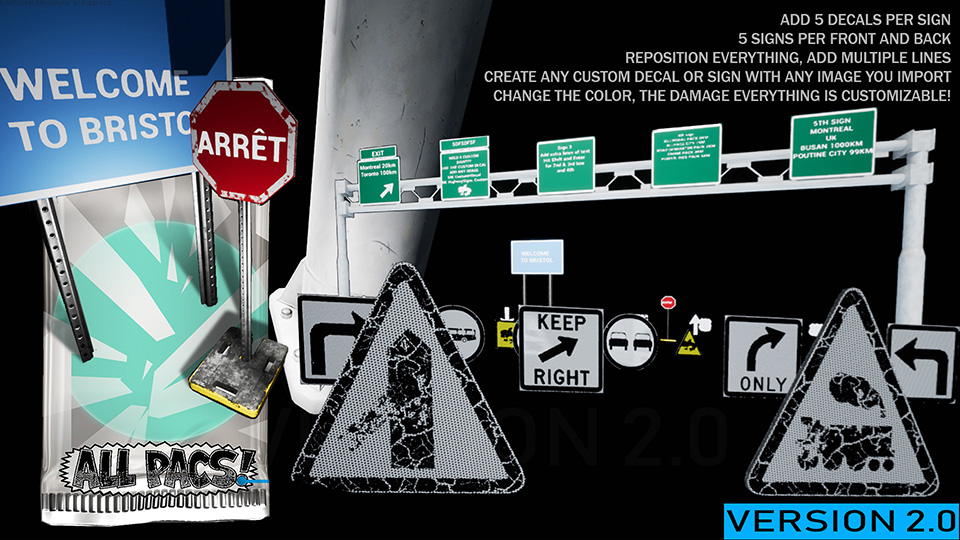 Agancg_UE4_Road-Sign-Billboard-Generator-Pack01