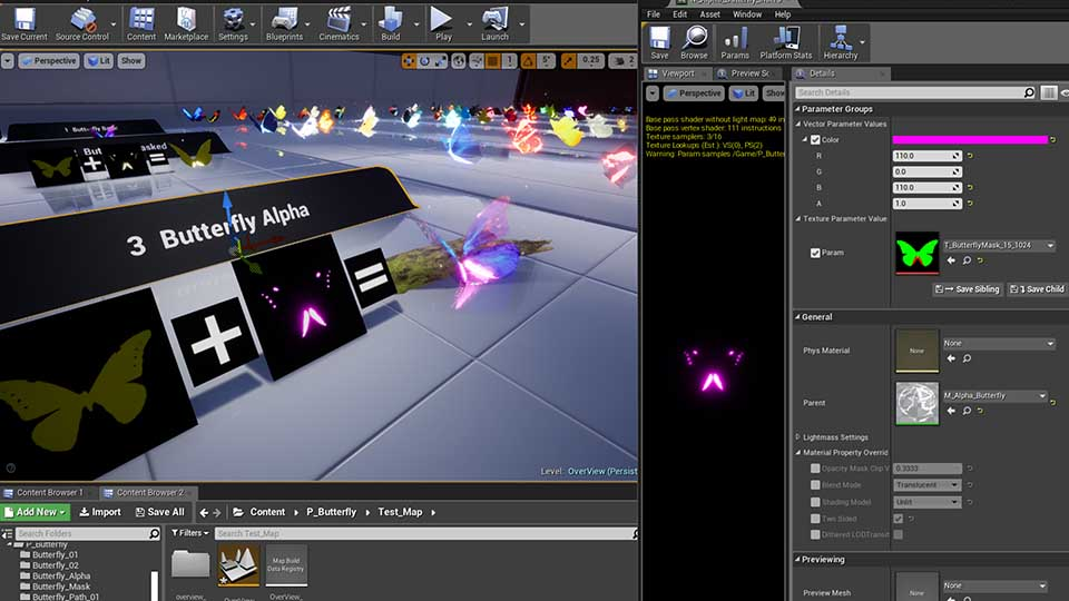 Agancg_UE4_蝴蝶粒子特效Butterfly-Particles02